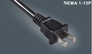 美式两芯插头电源线