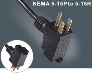 美国三芯插头带插座