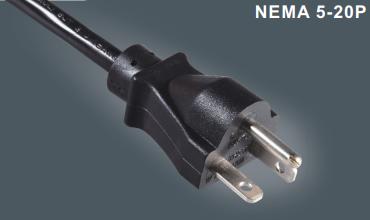 美国三芯UL插头电源线