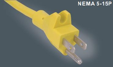 美式三芯插头电源线