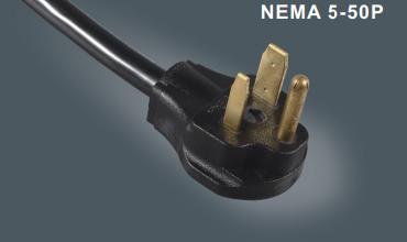 北美UL50安插头电源线