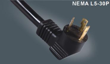 美式弯头带锁插头电源线