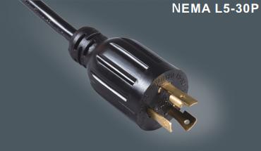 美国UL带锁插头电源线
