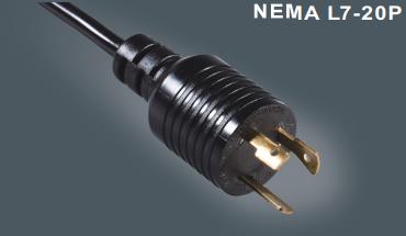 美国UL认证带锁插头线
