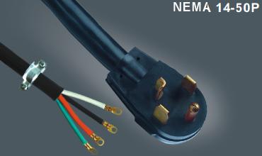 美式UL四芯电源线插头