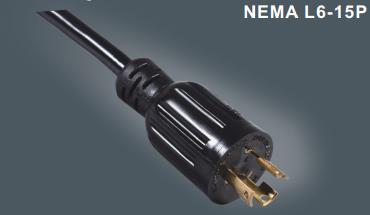 美国三芯带锁插头电源线