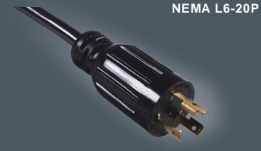 美国UL认证三芯带锁插头线