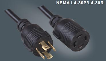 美国标准带锁L14-30P/L14-30R