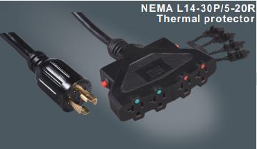 美国标准带锁插头多功能插座