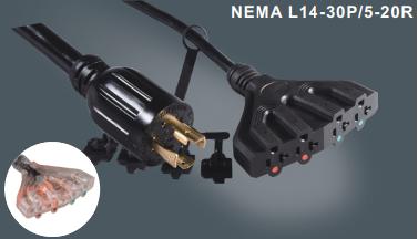 美国标准带锁插头插座