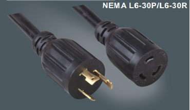 美国标准带锁插头延长线