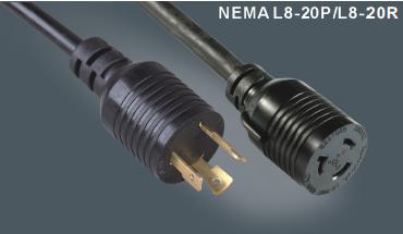 美国标准带锁插头L8-20P