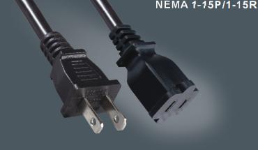 美国两芯延长电源线