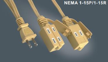 美国标准延长电源线