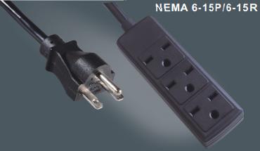美国标准插头电源线延长线