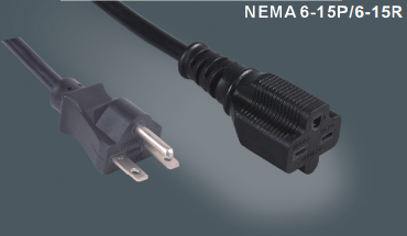 美国标准15A电源线延长线