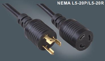 美国标准插头延长线自锁插头