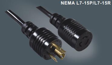 美国标准自锁插头延长线